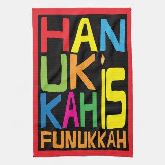 "Kitchen Towel ""Hanukkah Is Funukkah"" Dish Towel"