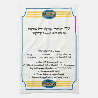 "Kitchen Towel ""Hanukkah Retro Dish Towel"""