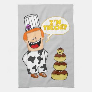 "kitchen towel ""I'm the Chef"""