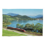 Kitchen towel of large Alpsee with Immenstadt