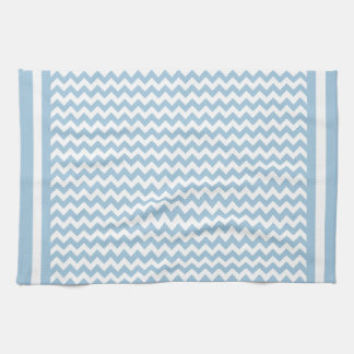 Kitchen Towel or Tea Towel Blue and White Chevrons