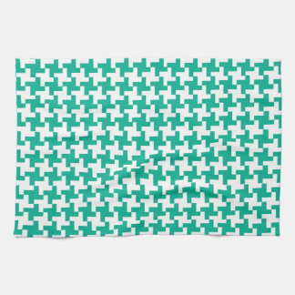 Kitchen Towel or Tea Towel Emerald Green Dogtooth