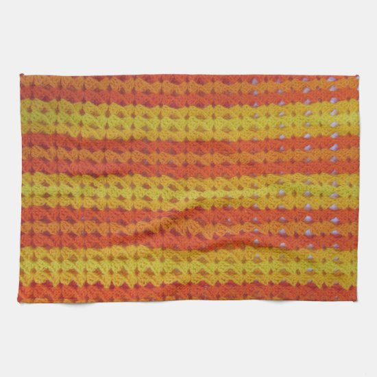 Kitchen Towel - Orange afghan