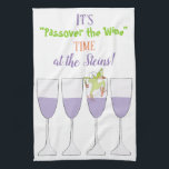 """Kitchen Towel &quot;Passover the Wine &quot;<br><div class=""""desc"""">Passover/Pesach Kitchen Towel. &quot;Passover the Wine Time&quot; dish towel&quot; Wonderful for yourself or bought for a hostess gift. Personalize by deleting text and replacing with your own message or leave blank. Choose your favorite font style, color, and size. Thanks for stopping and shopping by. Much appreciated! Happy Passover! Style: Kitchen...</div>"""