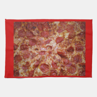 kitchen towel, pizza, pepperoni hand towel