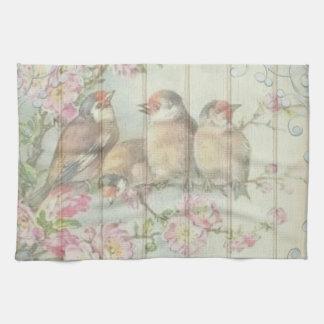 Kitchen towel pretty  song bird flower tree