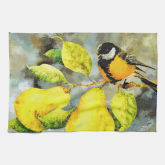 Kitchen towel pretty  song bird pear tree