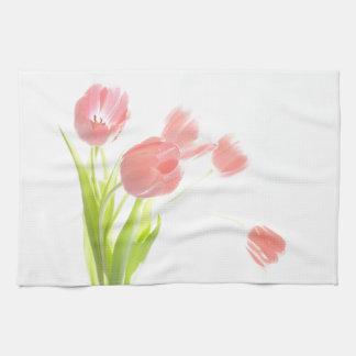 Kitchen towel Retro Pink tulip flower