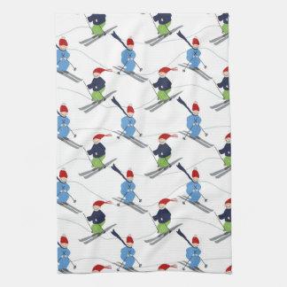 Kitchen Towel- Skiers!