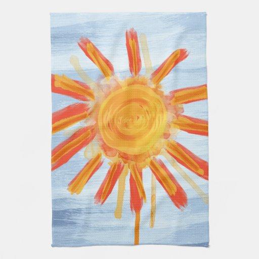 Kitchen Towel, Sunshine Painting