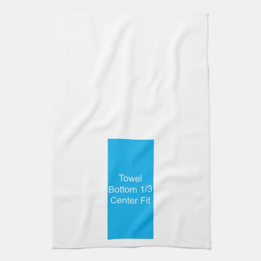Kitchen Towel Template Bottom 1/3 Center Fit