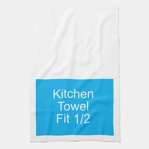 kitchen towel template half fit zazzle. Black Bedroom Furniture Sets. Home Design Ideas