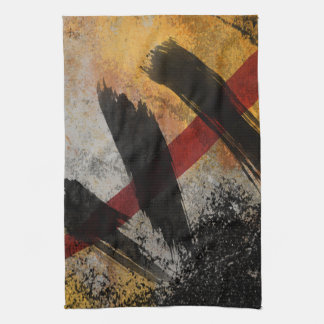 Kitchen Towel, The Scar, Digital Abstract Painting Towel