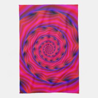 Kitchen Towel Violet and Blue Spiral