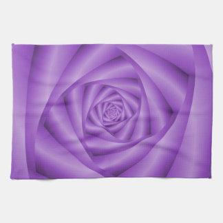 Kitchen Towel Violet Spiral