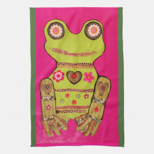Kitchen Towel With Cool Frog Design at Zazzle