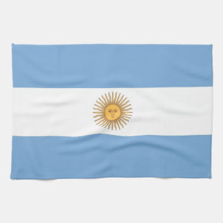 Kitchen towel with Flag of Argentina