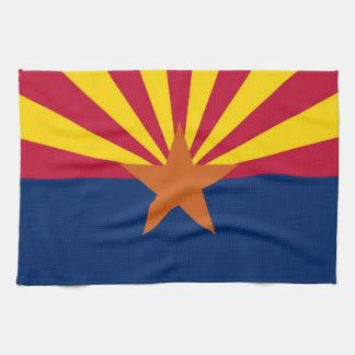 Kitchen towel with Flag of Arizona, U.S.A.