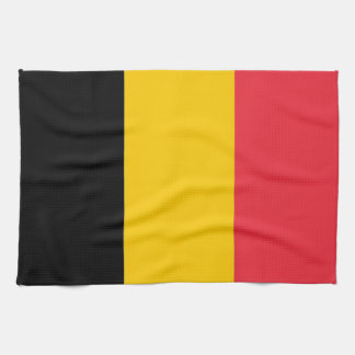 Kitchen towel with Flag of Belgium