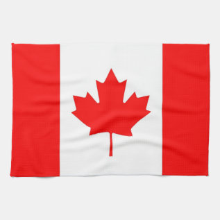 Kitchen Towel With Flag Of Canada at Zazzle