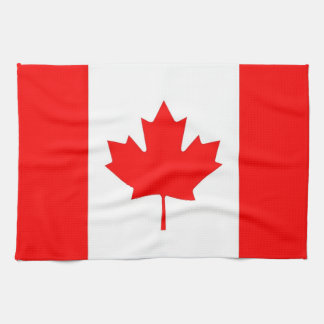 Kitchen towel with Flag of Canada