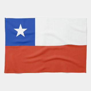 Kitchen Towel With Flag Of Chile at Zazzle