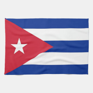 Kitchen towel with Flag of Cuba
