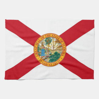 Kitchen towel with Flag of Florida, U.S.A.