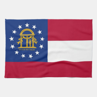 Kitchen towel with Flag of Georgia, U.S.A.
