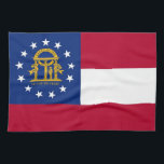 "Kitchen towel with Flag of Georgia, U.S.A.<br><div class=""desc"">Elegant patriotic kitchen towel with Flag of Georgia State,  United States of America. This product its customizable.</div>"