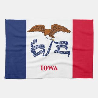 Kitchen towel with Flag of Iowa, U.S.A.