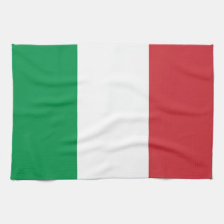 Kitchen Towel With Flag Of Italy at Zazzle