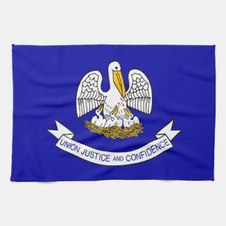 Kitchen towel with Flag of Louisiana, U.S.A.