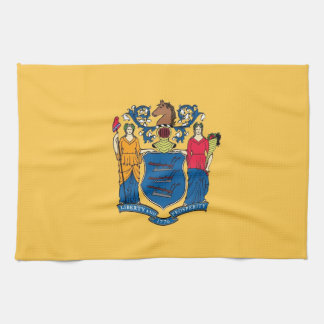 Kitchen towel with Flag of New Jersey, U.S.A.