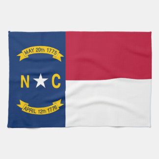 Kitchen towel with Flag of North Carolina, U.S.A.