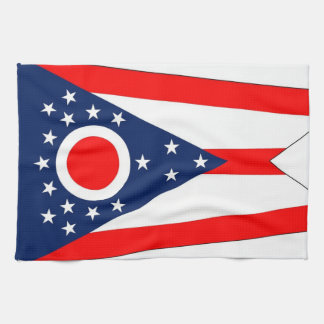 Kitchen towel with Flag of Ohio, U.S.A.