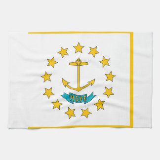 Kitchen towel with Flag of Rhode Island, U.S.A.