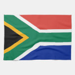 Kitchen towel with Flag of South Africa