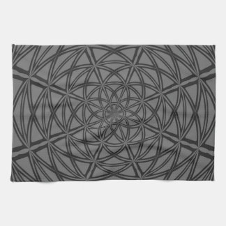 Kitchen towel with Gray Abstract Design