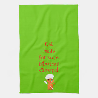 Kitchen Towel With Mexican Kitty Kat Chef