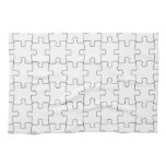 Kitchen towel with motive for puzzle