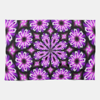 Kitchen towel with purple black Abstract Design