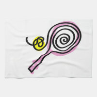 Kitchen towel with tennis print