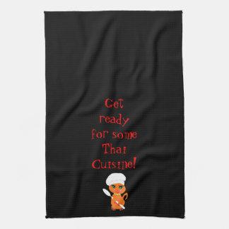 Kitchen Towel With Thai Kitty Kat Chef