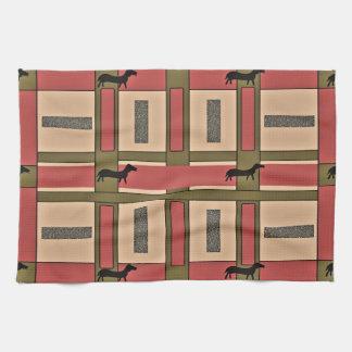 Kitchen Towel with Urban Dachsund Design