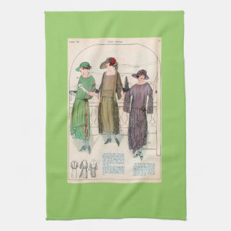 Kitchen Towel with Vintage Fashion Picture
