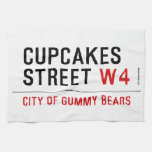 cupcakes Street  Kitchen Towels