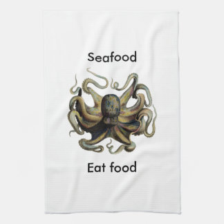 Kitchen Towels Octopus sea life Seafood Eat Food