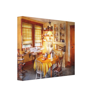 Kitchen - Typical farm kitchen Canvas Print