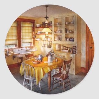 Kitchen - Typical farm kitchen Classic Round Sticker